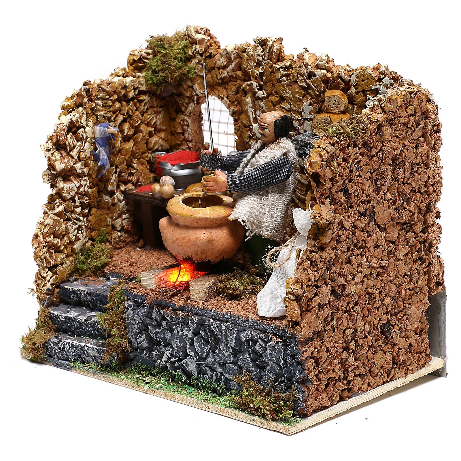 Chestnut seller in motion for Neapolitan Nativity scene of 8 cm 4