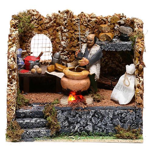 Chestnut seller in motion for Neapolitan Nativity scene of 8 cm 1