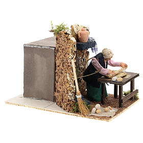 Housewife kneading for Neapolitan Nativity Scene of 8 cm s3