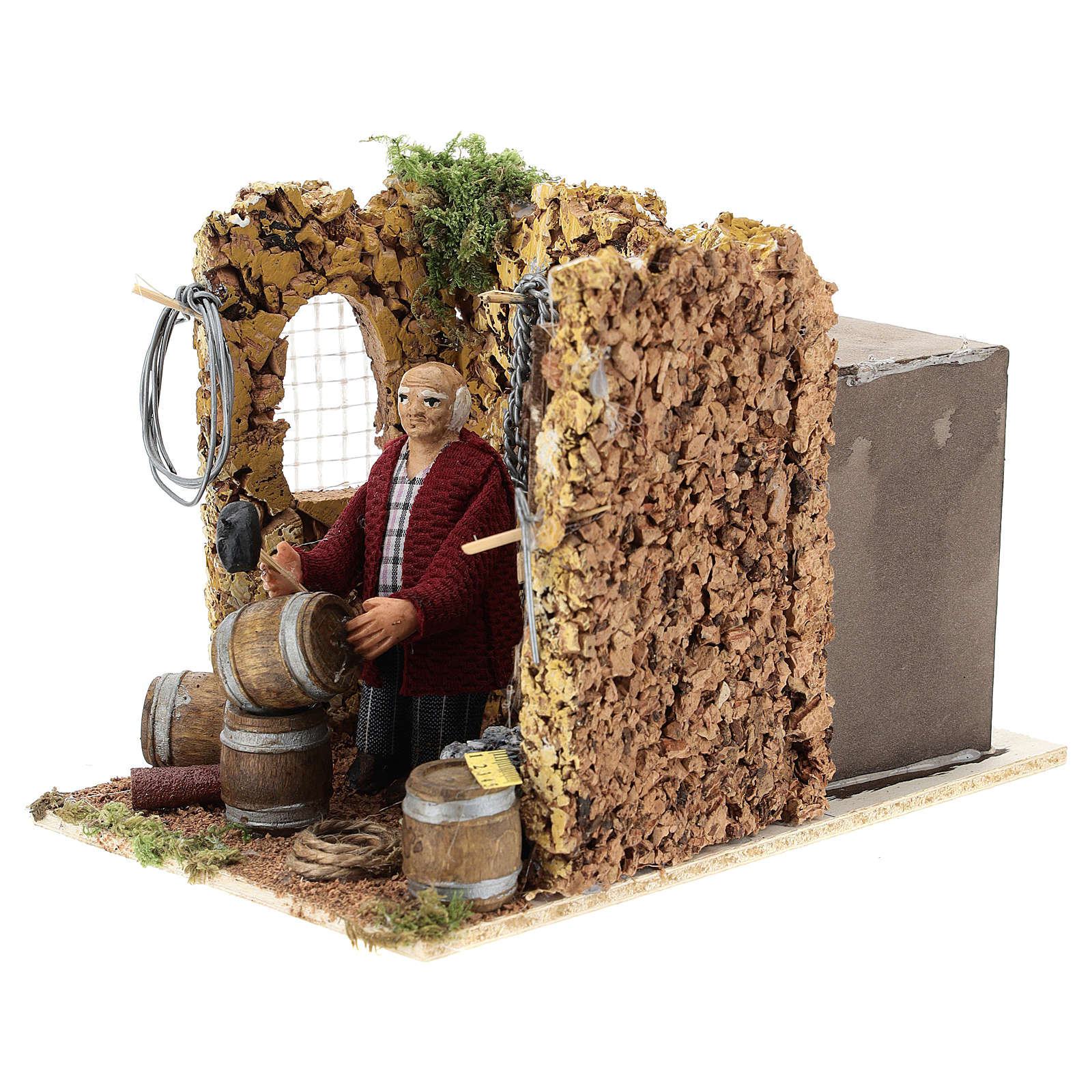 Moving shopkeeper for Neapolitan Nativity Scene of 8 cm 4