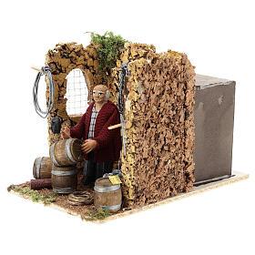 Moving shopkeeper for Neapolitan Nativity Scene of 8 cm s3