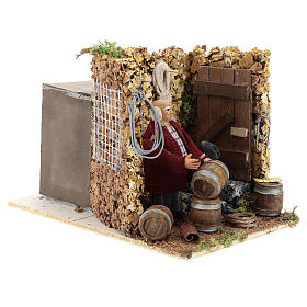 Moving shopkeeper for Neapolitan Nativity Scene of 8 cm s4