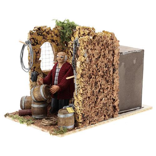 Moving shopkeeper for Neapolitan Nativity Scene of 8 cm 3