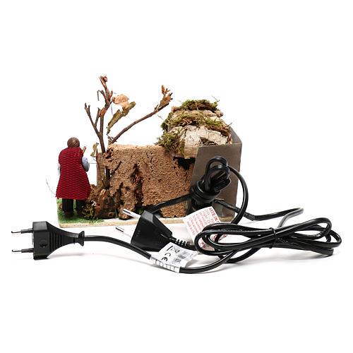 Man roasting pig, 8 cm animated Neapolitan nativity 4