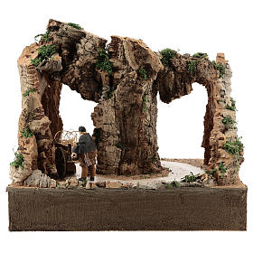 Moving man with cart for 10 cm Neapolitan Nativity scene s4