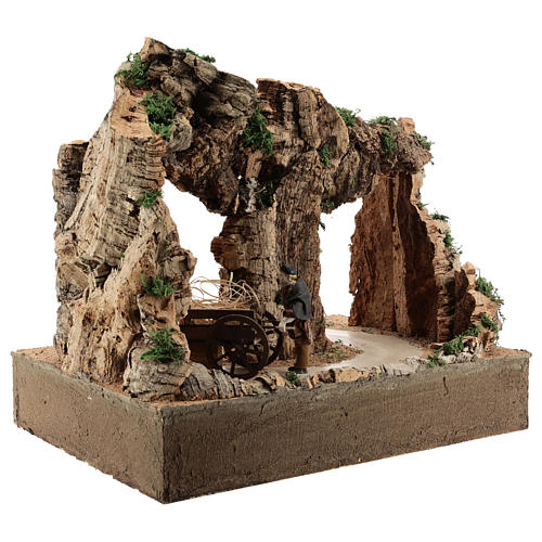 Moving man with cart for 10 cm Neapolitan Nativity scene 6