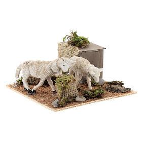 Pecore al pascolo movimento per presepe napoletano di 6 cm s2