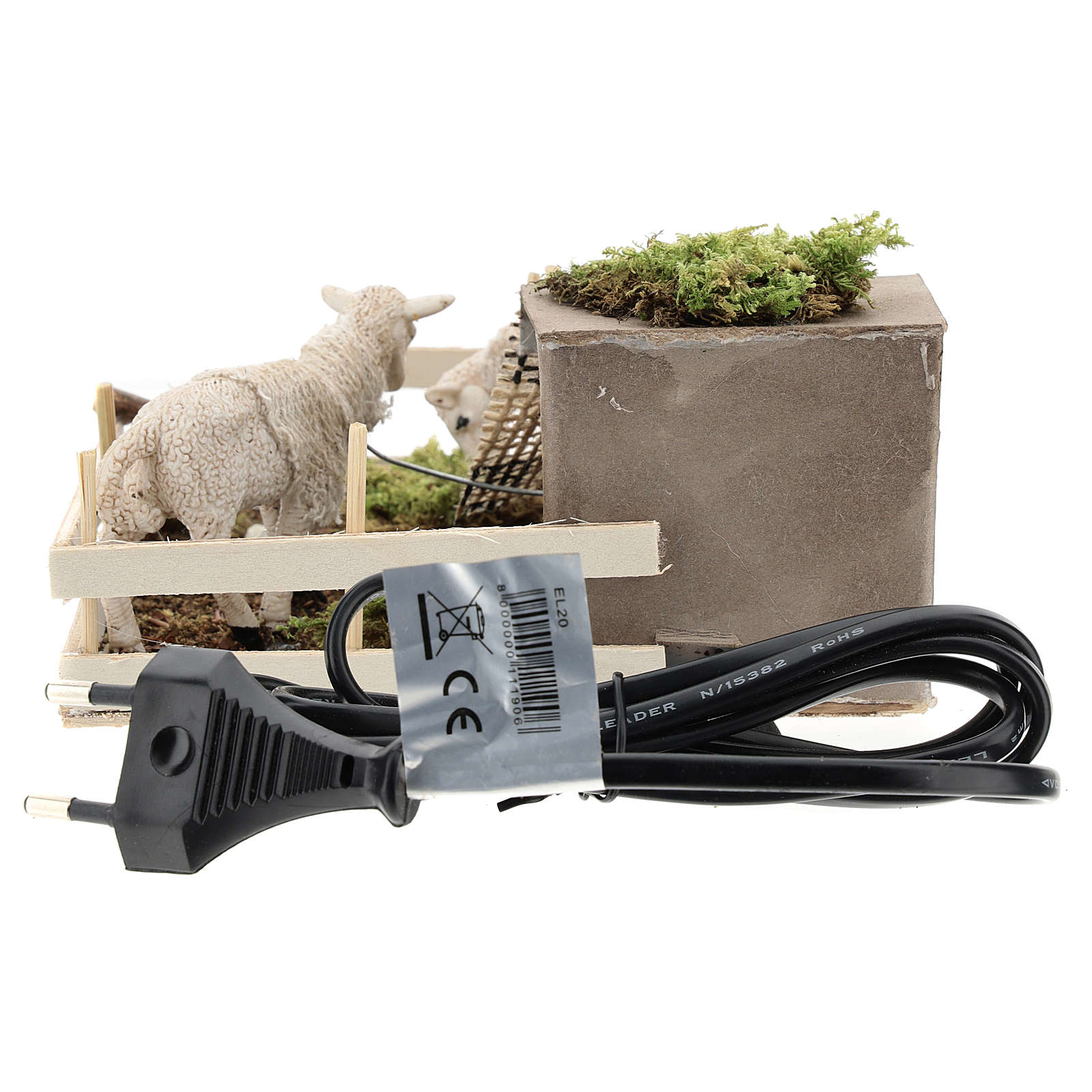 Sheep grazing in the fence for Neapolitan Nativity scene of 6 cm 4