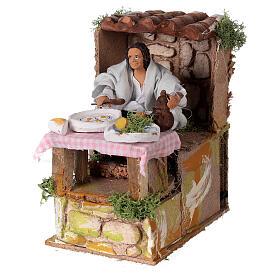 Man cooking nativity scene 10 cm s2