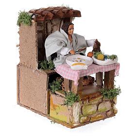 Man cooking nativity scene 10 cm s3