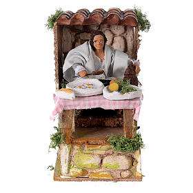 Man cooking, animated nativity figure 10 cm s1