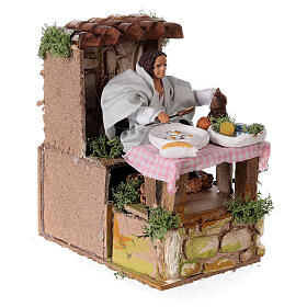 Man cooking, animated nativity figure 10 cm s3
