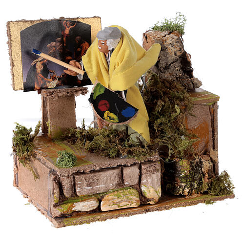 Painter nativity scene 10 cm 3