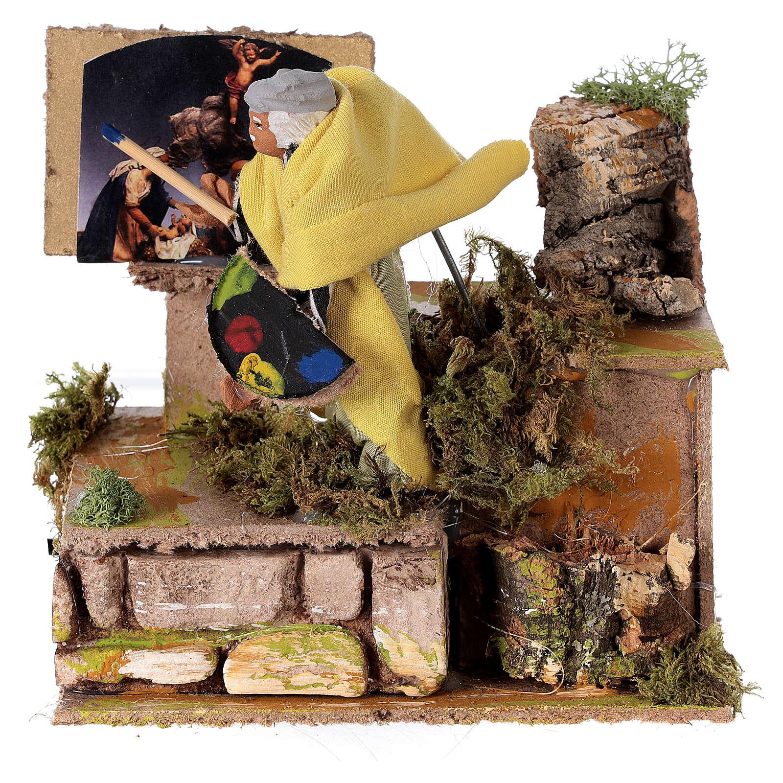 Pintor movimento para presépio napolitano com figuras de altura média 10 cm 3