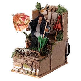 Umbrella maker, animated nativity figure 10 cm s2
