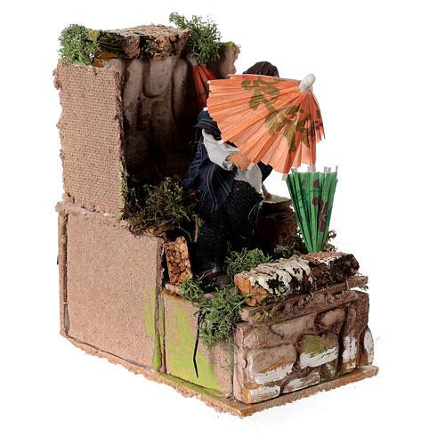 Umbrella maker, animated nativity figure 10 cm 3