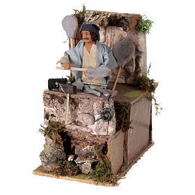 Blacksmith shepherd, animated nativity figure 10 cm s2
