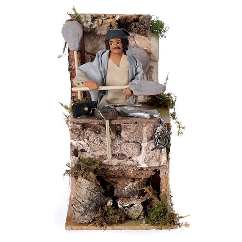 Blacksmith shepherd, animated nativity figure 10 cm 1