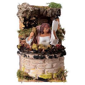 Woman cooking artichokes moving Nativity scene 10 cm s1