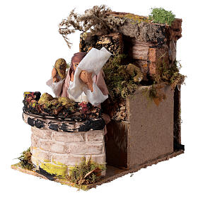 Woman cooking artichokes, animated nativity figure 10 cm s2