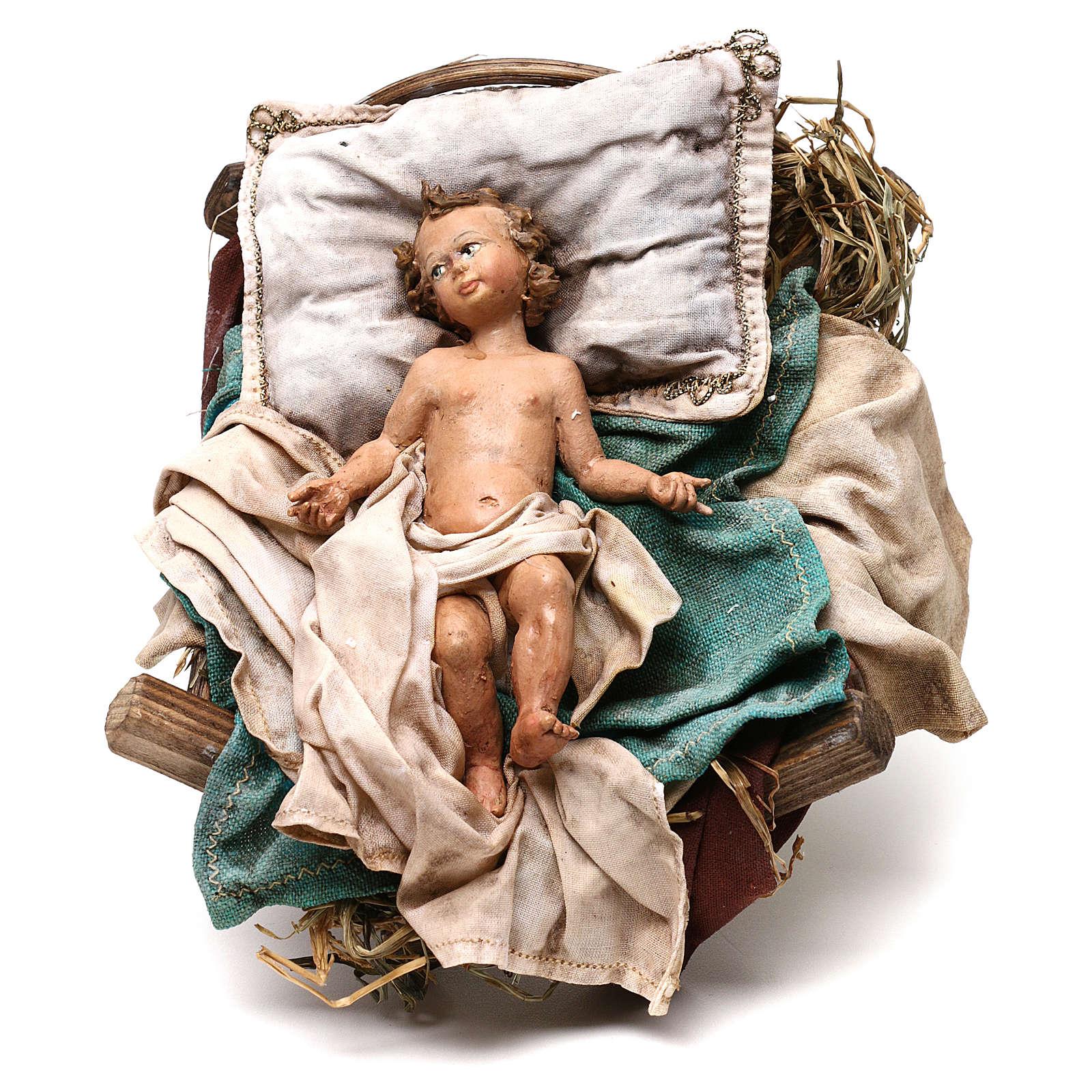 Nativité terre cuite Angela Tripi 30 cm 4