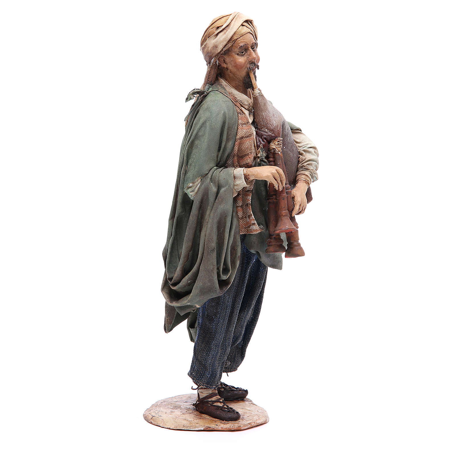 Nativity scene figurine, bagpiper player, Angela Tripi 4