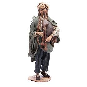Nativity scene figurine, bagpiper player, Angela Tripi s1