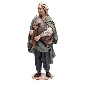 Nativity scene figurine, bagpiper player, Angela Tripi s2