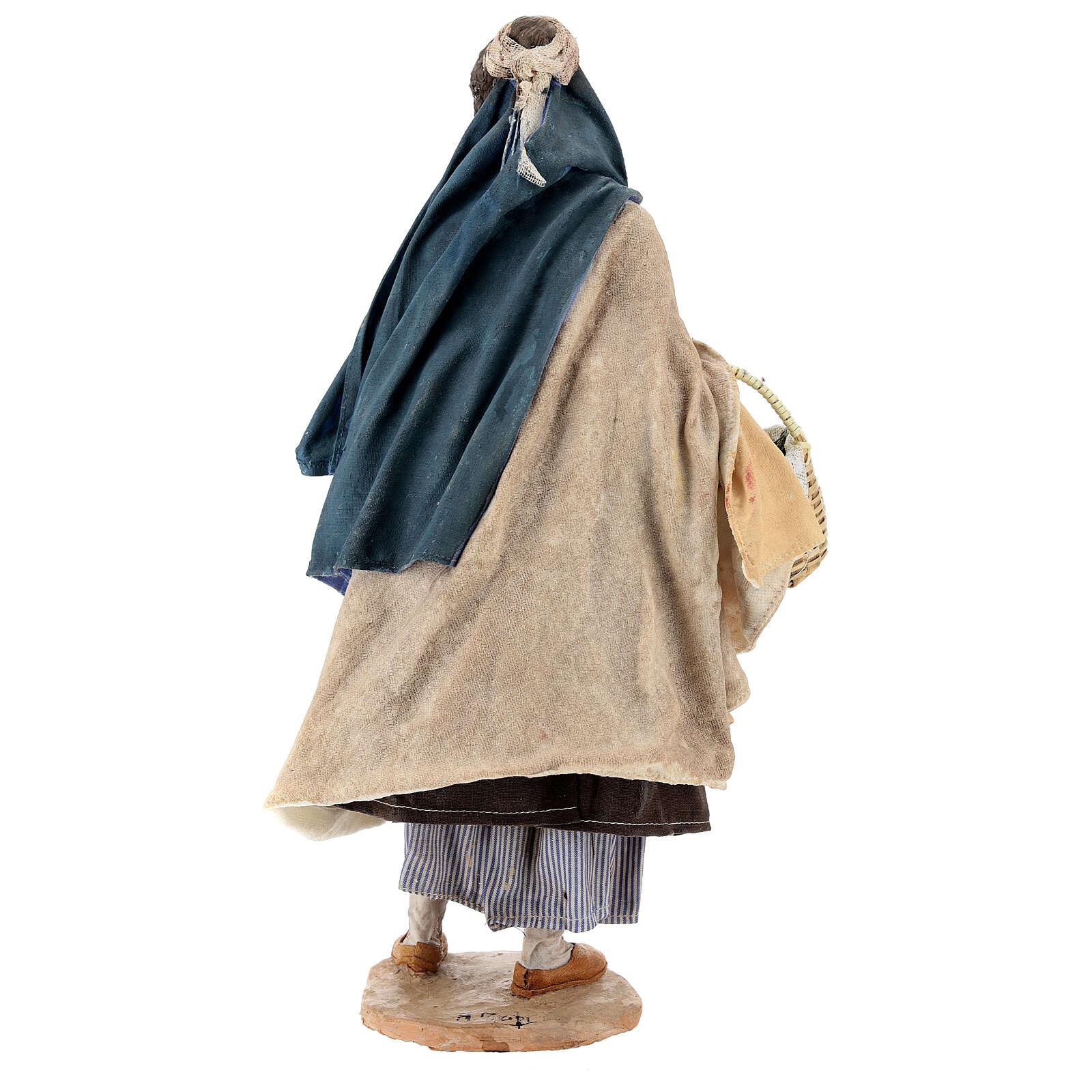 Donna con cesti 30 cm Angela Tripi terracotta 4