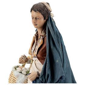 Donna con cesti 30 cm Angela Tripi terracotta s4