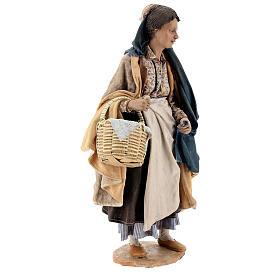 Donna con cesti 30 cm Angela Tripi terracotta s5