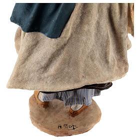 Donna con cesti 30 cm Angela Tripi terracotta s9