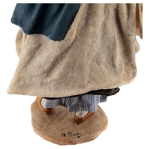 Donna con cesti 30 cm Angela Tripi terracotta 9