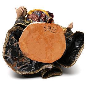 Roi Mage blanc crèche terre cuite Angela Tripi 30 cm s6