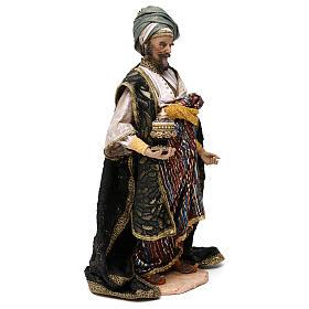 Nativity scene figurine, king Melchior 30 cm, Angela Tripi s4