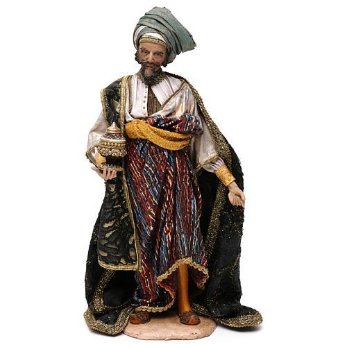 Nativity scene figurine, king Melchior 30 cm, Angela Tripi 1