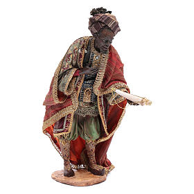 Nativity scene figurine, black wise king 30 cm, Angela Tripi s1