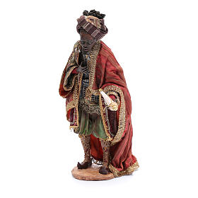 Nativity scene figurine, black wise king 30 cm, Angela Tripi s2