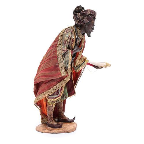 Nativity scene figurine, black wise king 30 cm, Angela Tripi 4