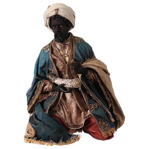 Nativity scene figurine, black wise king 30 cm, Angela Tripi 1