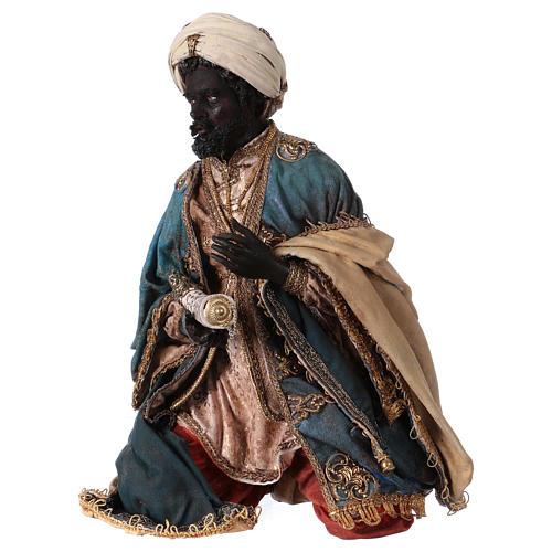 Nativity scene figurine, black wise king 30 cm, Angela Tripi 3