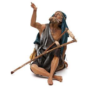 Nativity scene figurine, mendicant 30 cm, Angela Tripi s1