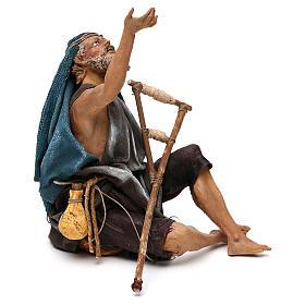 Nativity scene figurine, mendicant 30 cm, Angela Tripi s4