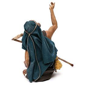 Nativity scene figurine, mendicant 30 cm, Angela Tripi s5