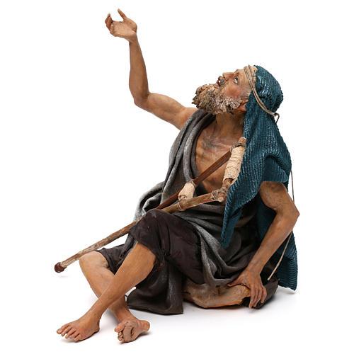 Nativity scene figurine, mendicant 30 cm, Angela Tripi 3