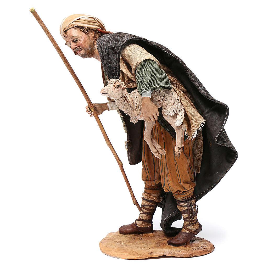 Pastore con agnello 30 cm Angela Tripi terracotta 4