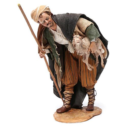 Pastore con agnello 30 cm Angela Tripi terracotta 1