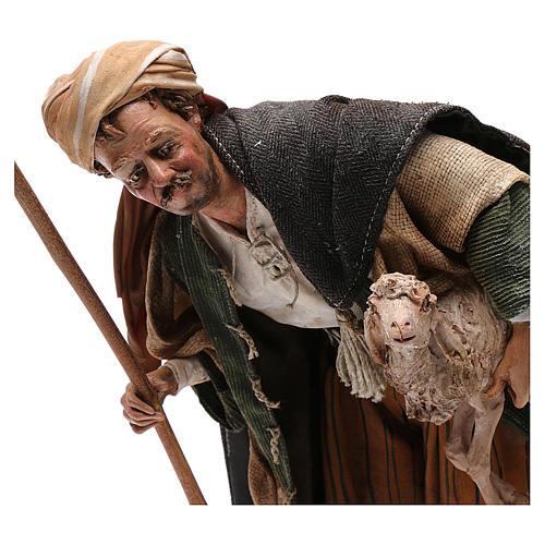 Pastore con agnello 30 cm Angela Tripi terracotta 2
