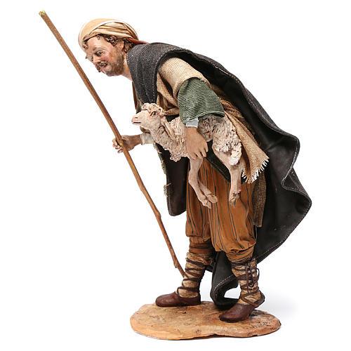 Pastore con agnello 30 cm Angela Tripi terracotta 3