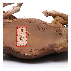 Boeuf crèche terre cuite Angela Tripi 30 cm s6